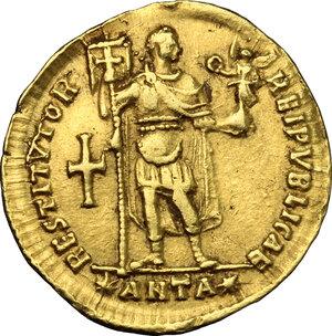 reverse: Valens (364-378).. AV Solidus, Antioch mint, 364 AD