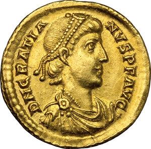 obverse: Gratian (367-383).. AV Solidus, Mediolanum mint