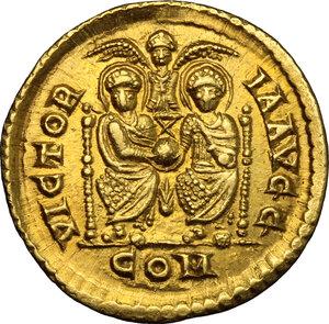 reverse: Gratian (367-383).. AV Solidus, Mediolanum mint