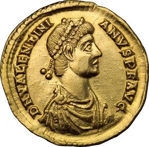 obverse: Valentinian II (375-392).. AV Solidus, Mediolanum mint, 378-383 AD