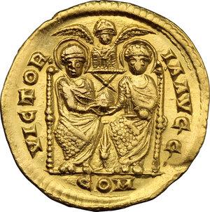 reverse: Valentinian II (375-392).. AV Solidus, Mediolanum mint, 378-383 AD