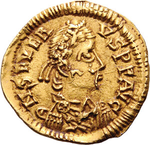 obverse: The Visigoths in Gallia (417-507). . AV Tremissis, in the name of Libius Severus (461-465). Tolouse or Narbonne mint, mid 5th century AD