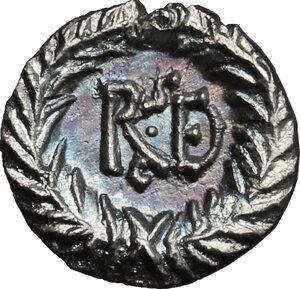 reverse: Ostrogothic Italy, Amalasuntha (534-535).. AR Quarter Siliqua in the name of Justinian I, Ravenna mint