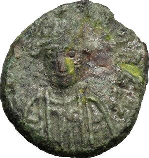 obverse: Ostrogothic Italy, Baduila (541-552).. AE Decanummium, Rome mint, 549-552 AD