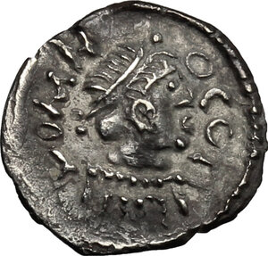 obverse: Lombardic Italy. The Interregnum (574/5-584/5), Faroald I (?).. AR Quarter Siliqua imitating Tiberius II Constantine (578-582) or Maurice Tiberius (582-602). Pseudo-Ravenna mint