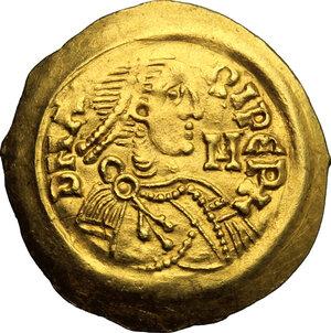 obverse: Lombardic Italy. Aripert II (700-712).. AV Tremissis, Lombardy and Tuscany