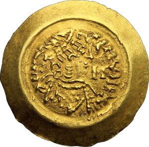 obverse: Lombardic Italy. Liutprand (712-744).. AV Tremissis, Lombardy