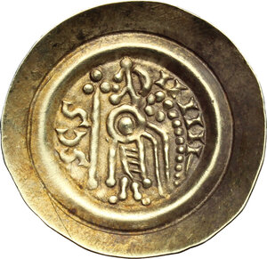 reverse: Lombardic Italy. Liutprand (712-744).. Pale AV Tremissis, Lombardy