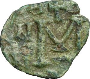 reverse: Lombardic Italy. Aistulf (749-756).. AE Follis, Ravenna mint, struck 751-752 AD
