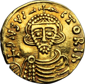 obverse: The Lombards at Beneventum. Arichis II, as Princeps (774-787).. AV Tremissis