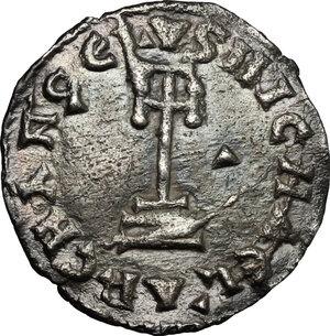 reverse: The Lombards at Beneventum. Sico (817-832).. AR Denarius