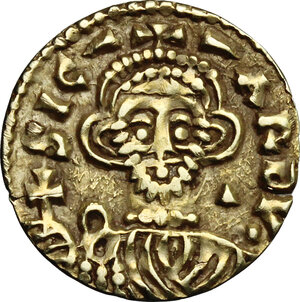 obverse: The Lombards at Beneventum. Sicard (832-839).. Pale AV Tremissis