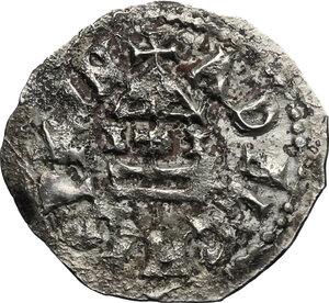 obverse: The Lombards at Beneventum. Adelchis (853-878).. AR Denarius