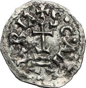 reverse: The Lombards at Beneventum. Adelchis (853-878).. AR Denarius