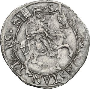 reverse: Carmagnola.  Ludovico II di Saluzzo (1475-1504).. Cavallotto senza sigle
