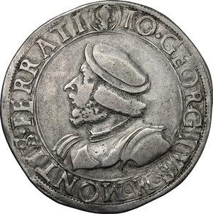 obverse: Casale.  Gian Giorgio Paleologo (1530-1533). Testone