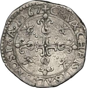 reverse: Casale.  Guglielmo Gonzaga (1566-1587). Bianco 1567