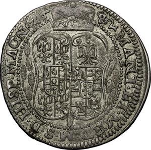 reverse: Castiglione delle Stiviere.  Ferdinando II Gonzaga (1680-1723). Da 25 soldi 1682