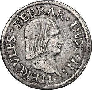 obverse: Ferrara.  Ercole I d Este (1471-1505). Testone o idra