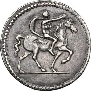 reverse: Ferrara.  Ercole I d Este (1471-1505). Testone o quarto