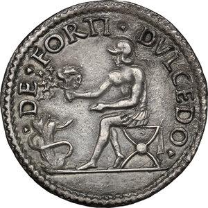reverse: Ferrara.  Alfonso I d Este (1505-1534). Testone o quarto