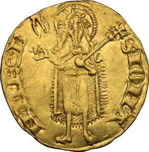 reverse: Firenze.  Repubblica (sec. XIII-1532).. Fiorino d oro stretto, V serie, 1304 - 1310, maestro di zecca sconosciuto. Simbolo tenaglie chiuse