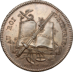 reverse: Firenze.  Ludovico I di Borbone (1801-1803), re d Etruria. Medaglia 1801 per la visita dei reali d Etruria a Parigi