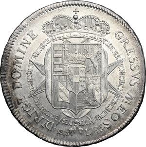 reverse: Firenze.  Pietro Leopoldo di Lorena (1765-1790). Francescone 1786