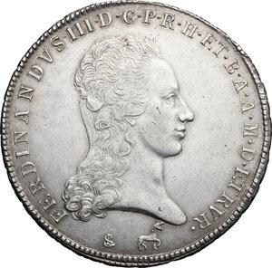 obverse: Firenze.  Ferdinando III di Lorena (I periodo 1790-1801).. Francescone 1795
