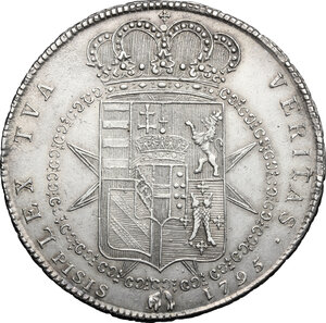 reverse: Firenze.  Ferdinando III di Lorena (I periodo 1790-1801).. Francescone 1795