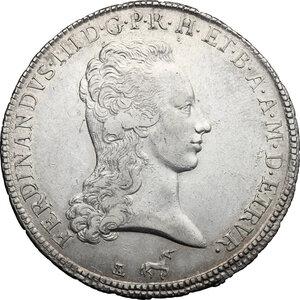 obverse: Firenze.  Ferdinando III di Lorena (I periodo 1790-1801).. Francescone 1798