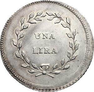 reverse: Firenze.  Carlo Ludovico di Borbone e Maria Luigia reggente (1803-1807). Lira 1803