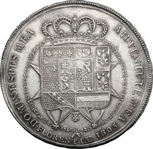 reverse: Firenze.  Carlo Ludovico di Borbone e Maria Luigia reggente (1803-1807). Scudo da 10 lire fiorentine o dena 1805