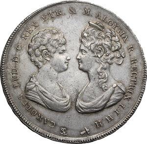 obverse: Firenze.  Carlo Ludovico di Borbone e Maria Luigia reggente (1803-1807). Francescone 1806