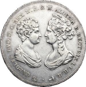 obverse: Firenze.  Carlo Ludovico di Borbone e Maria Luigia reggente (1803-1807). Francescone 1807