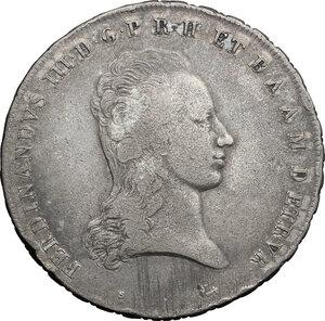 obverse: Firenze.  Ferdinando III di Lorena (II periodo 1814-1824).. Francescone 1820