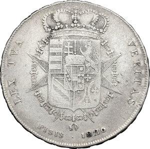 reverse: Firenze.  Ferdinando III di Lorena (II periodo 1814-1824).. Francescone 1820
