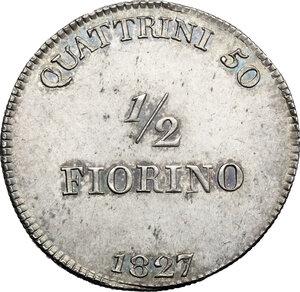 reverse: Firenze.  Leopoldo II di Lorena (1824-1859). Mezzo fiorino 1827
