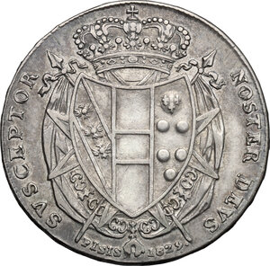 reverse: Firenze.  Leopoldo II di Lorena (1824-1859). Mezzo francescone 1829