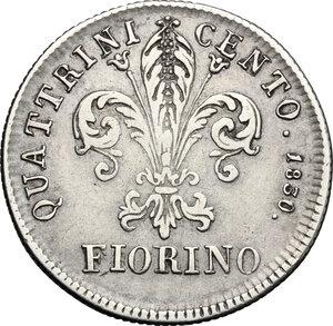 reverse: Firenze.  Leopoldo II di Lorena (1824-1859). Fiorino 1830