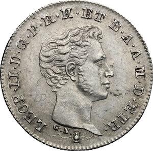 obverse: Firenze.  Leopoldo II di Lorena (1824-1859). Mezzo paolo 1832