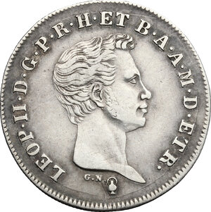 obverse: Firenze.  Leopoldo II di Lorena (1824-1859). Paolo 1838