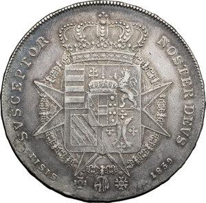 reverse: Firenze.  Leopoldo II di Lorena (1824-1859). Francescone 1839