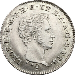 obverse: Firenze.  Leopoldo II di Lorena (1824-1859). Mezzo paolo 1839