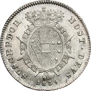 reverse: Firenze.  Leopoldo II di Lorena (1824-1859). Mezzo paolo 1839
