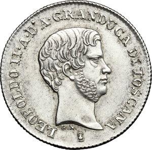 obverse: Firenze.  Leopoldo II di Lorena (1824-1859). Fiorino 1843