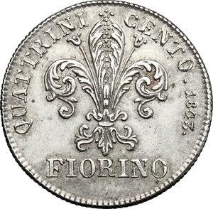 reverse: Firenze.  Leopoldo II di Lorena (1824-1859). Fiorino 1843