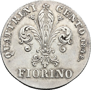 reverse: Firenze.  Leopoldo II di Lorena (1824-1859). Fiorino 1848