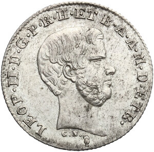 obverse: Firenze.  Leopoldo II di Lorena (1824-1859). Mezzo paolo 1853