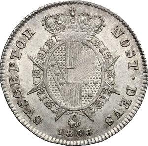 reverse: Firenze.  Leopoldo II di Lorena (1824-1859). Mezzo paolo 1856